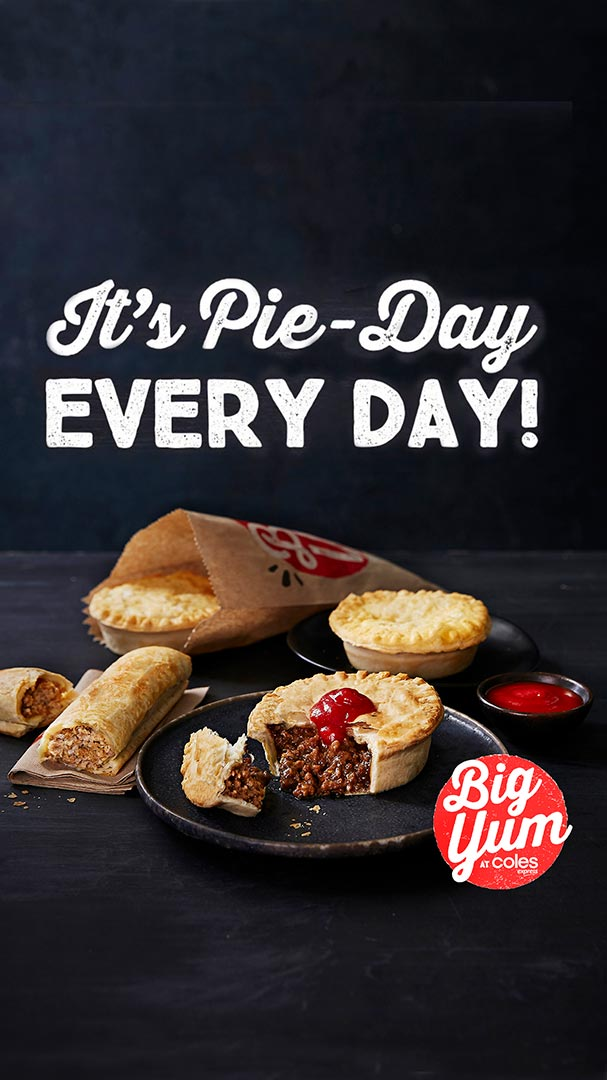 Pie Day Big Yum at Coles