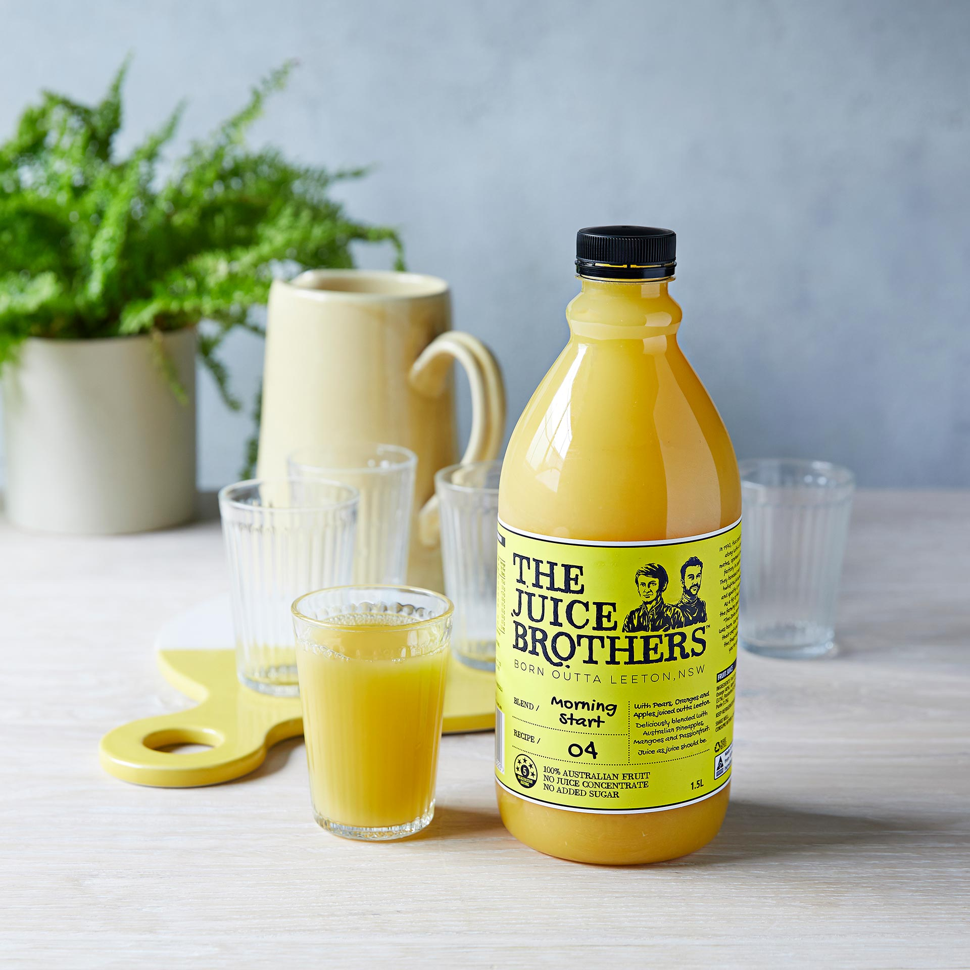 The Juice Brothers Morning Start Juice in a Glass