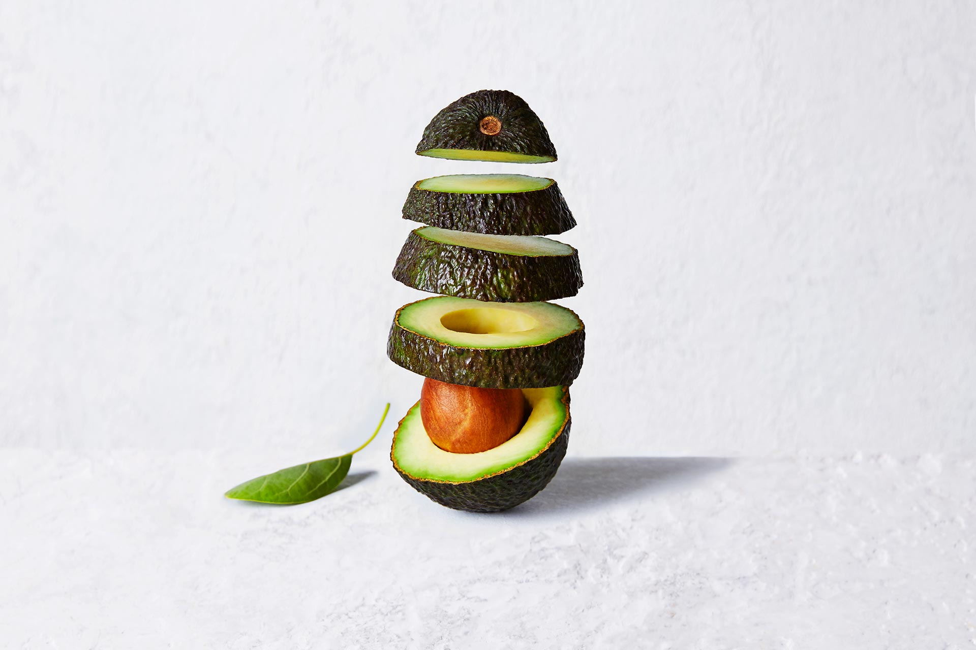 Vertical Artistic Sliced Avocado