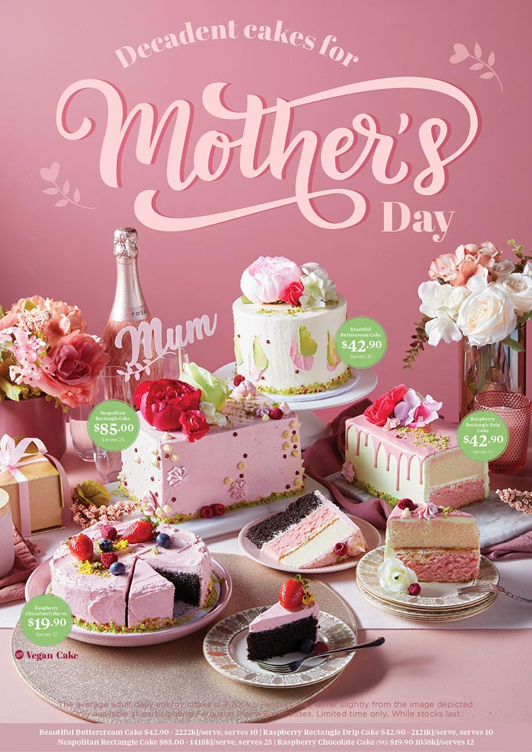 Mothers Day Cake Range
