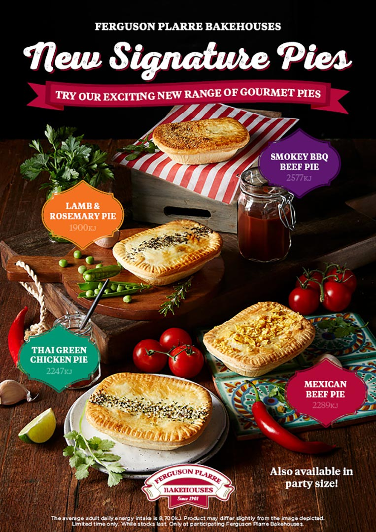 plarres signature pies poster range