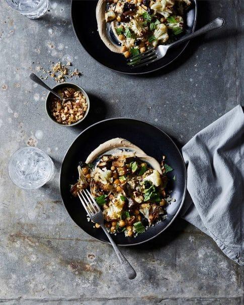 Food Stylist, Roasted Eggplant, Cauliflower and Quinoa