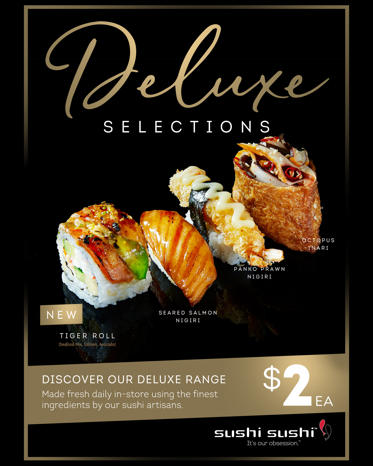 sushit sushi deluxe selections