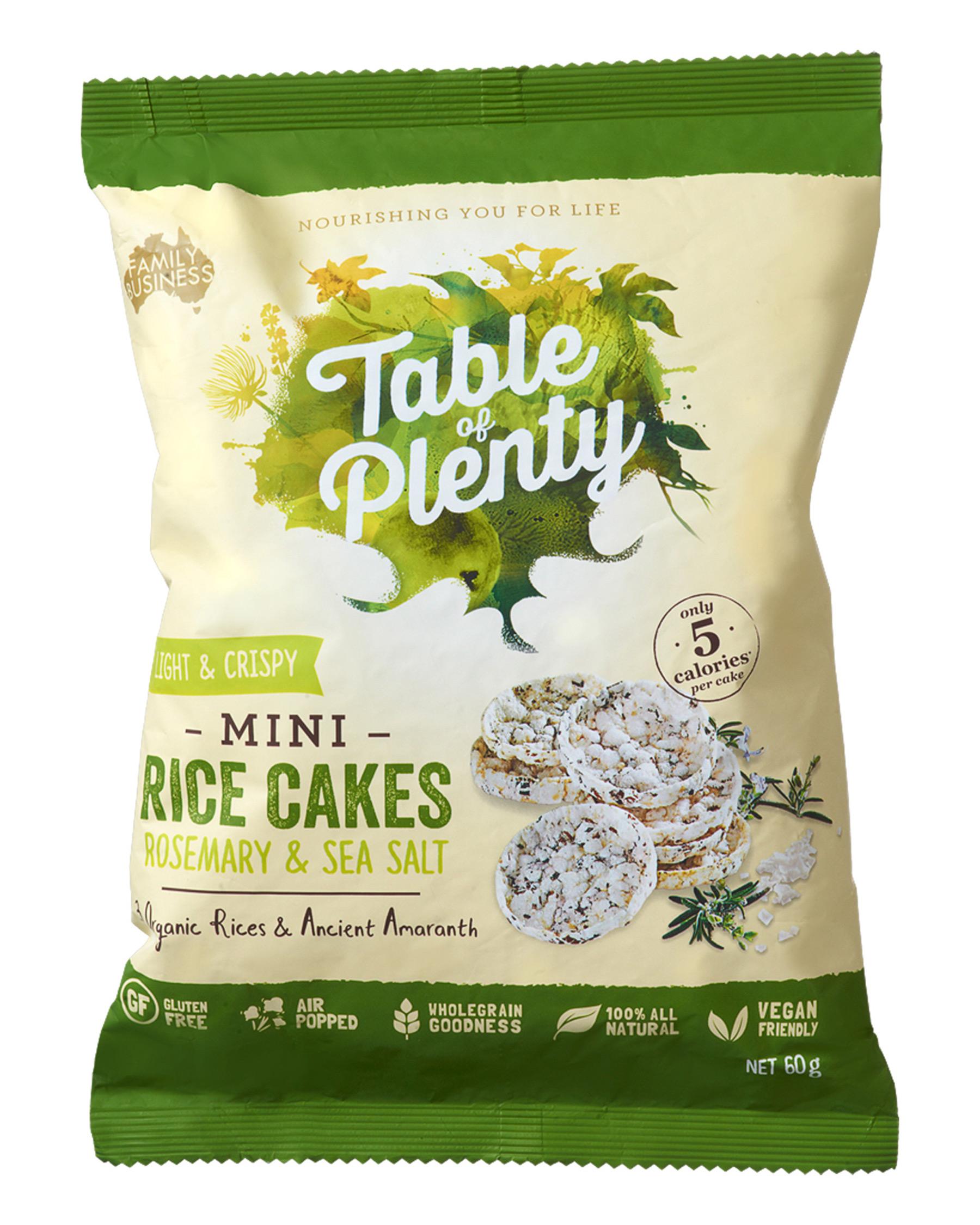 table of plenty rice crackers