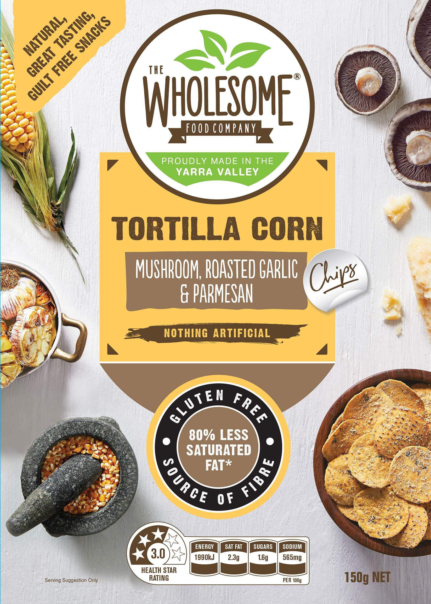 tortilla corn chips mushroom garlic cheese