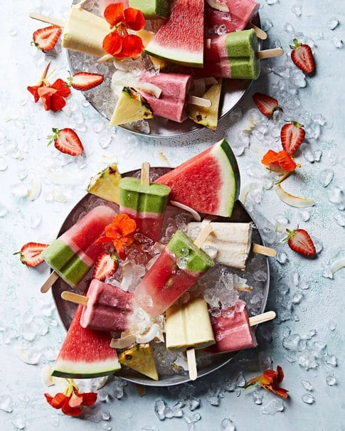 tropical fruit popsicles