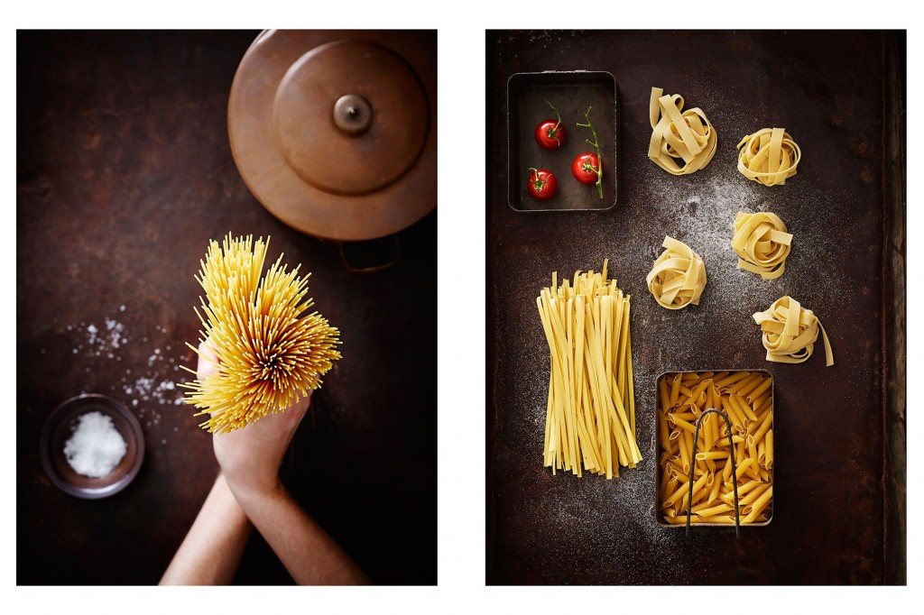 dry pasta photography