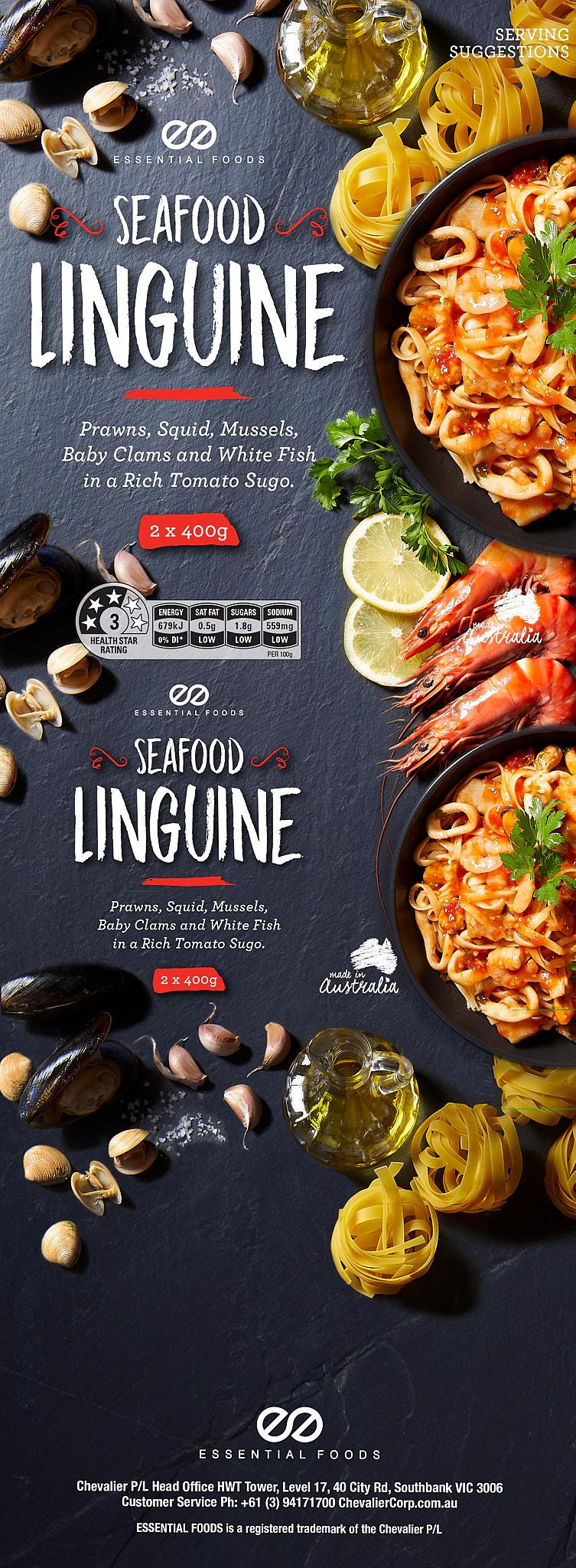 Essential Foods Seafood Linguine pack