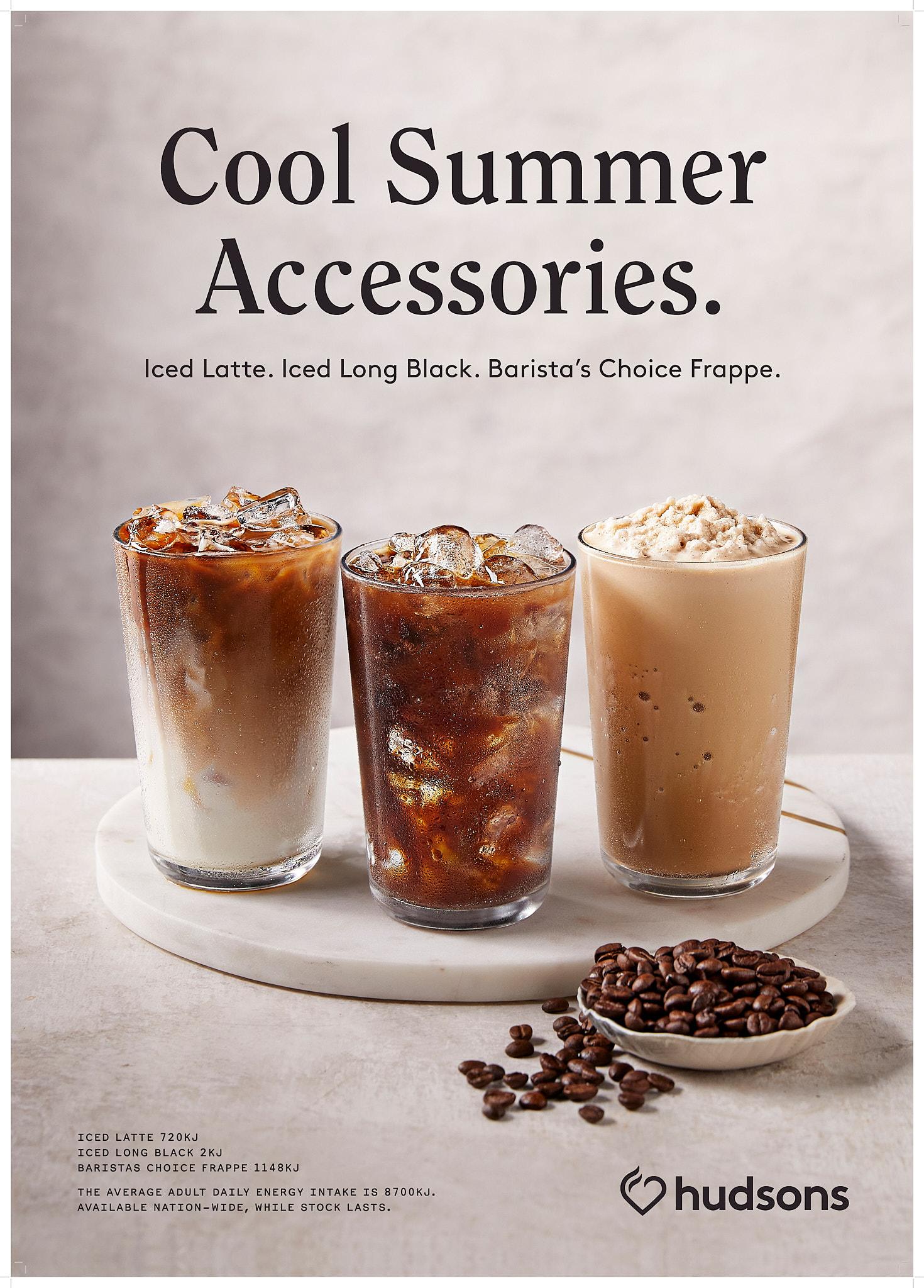 Hudsons Coffee Iced Coffe range